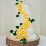 Yellow Handmade Rose Cascade (Marleybrook House)