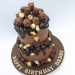 2 Tier Chocolate Drip Cake