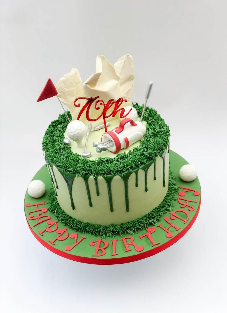 Golf Drip Cake
