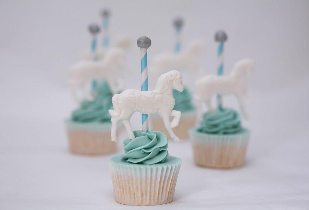 Blue Carousel Horse