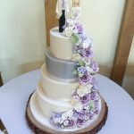Purple Handmade Flowers Cascade