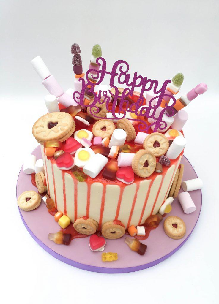 Jammie Dodger Drip Cake