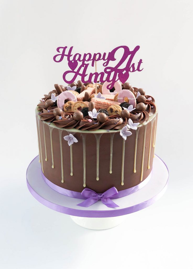 Chocolate & Biscuits Drip Cake