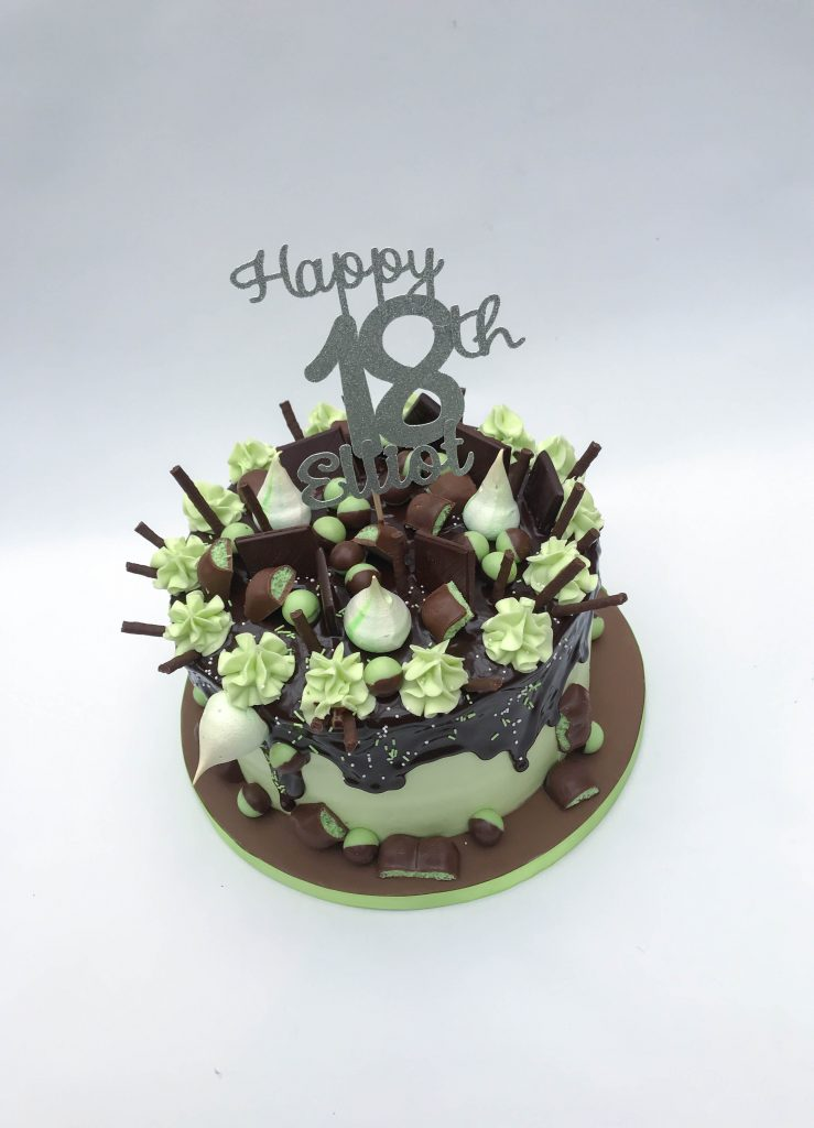 Mint Chocolate Drip Cake