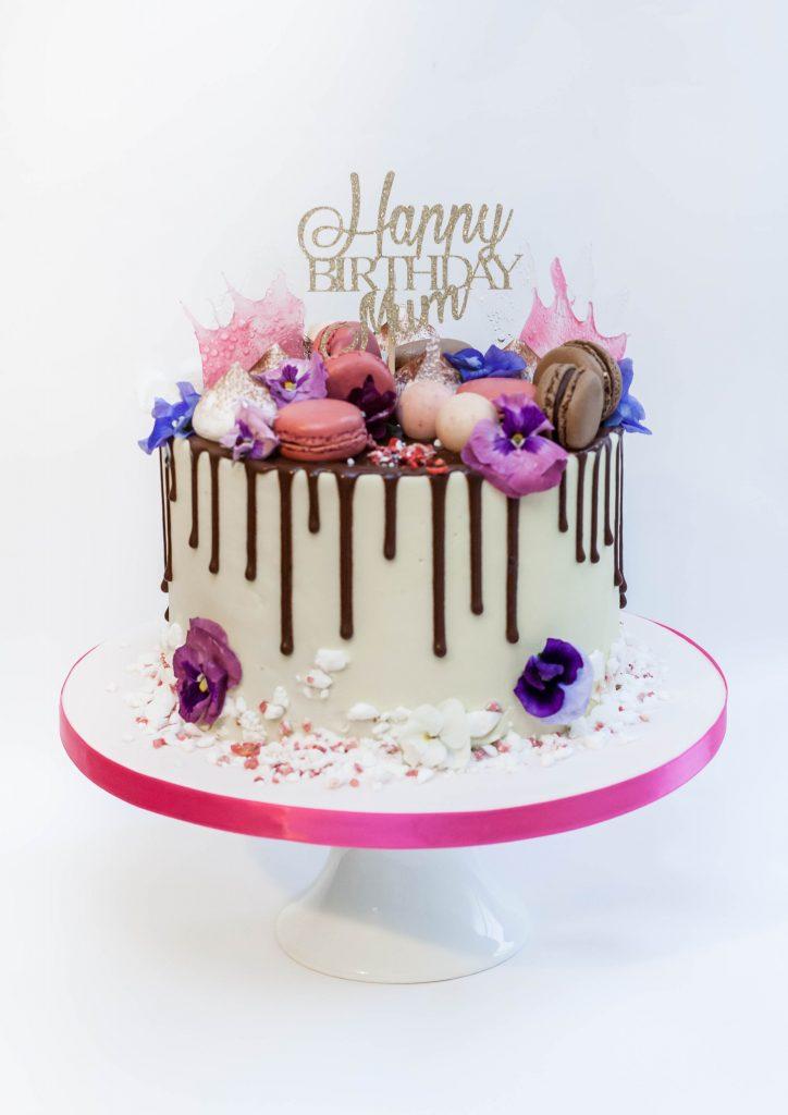 Flowers Drip Cake