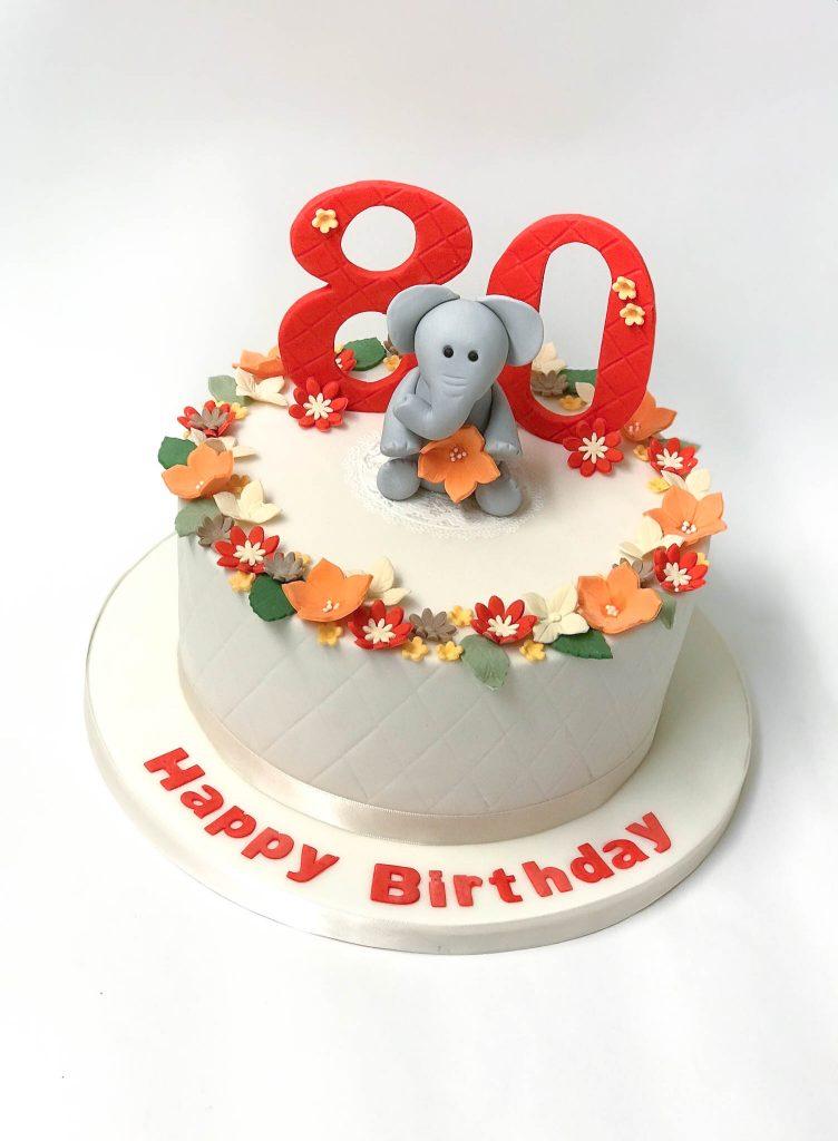 Elephant & Flowers
