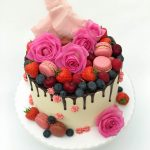 Fruit & Flowers Drip Cake