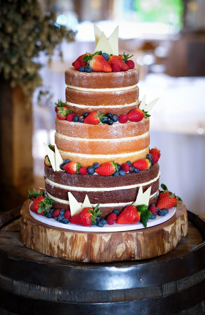 Chocolate Shards Naked Cake