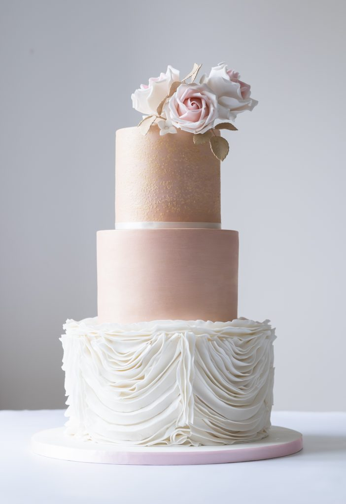 Pale Rose Gold and Ruffles