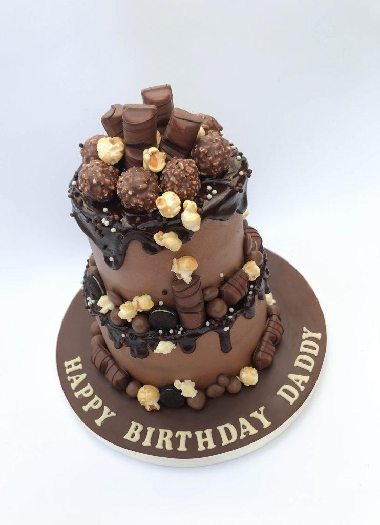 2 Tier Chocolate Drip Cake