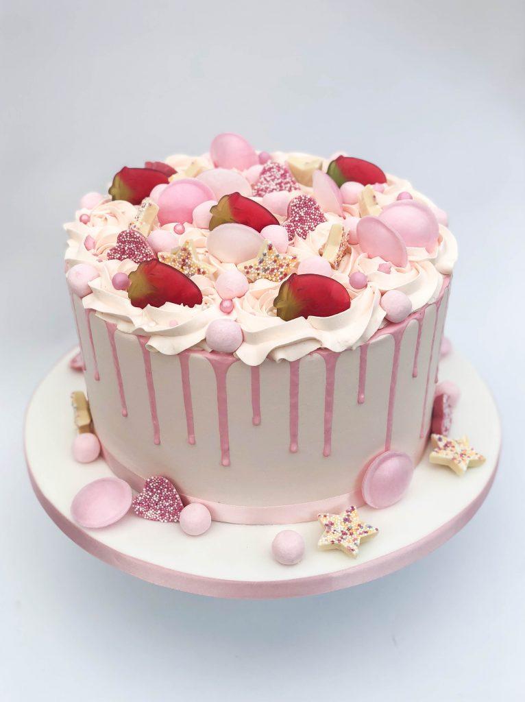 Pink Sweeties Drip Cake