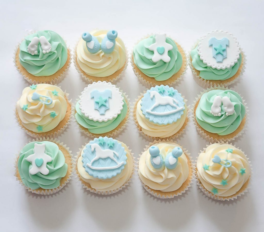Blue & Green Cupcakes