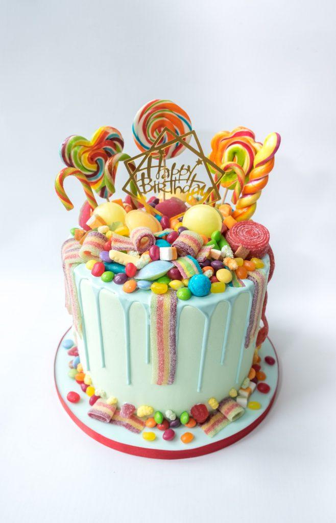 Rainbow Sweets Drip Cake