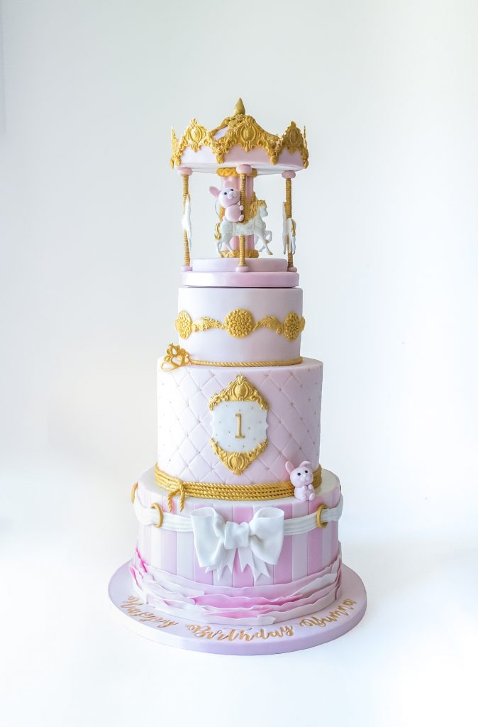 3 Tier Pink Carousel