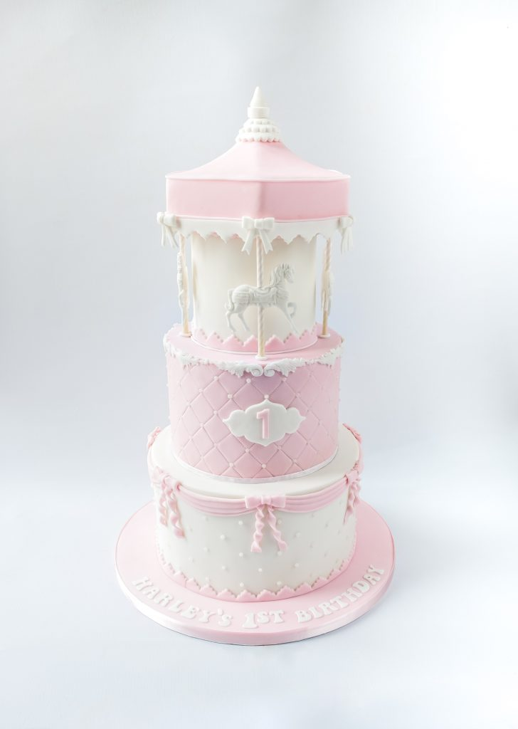 Pink and White Carousel