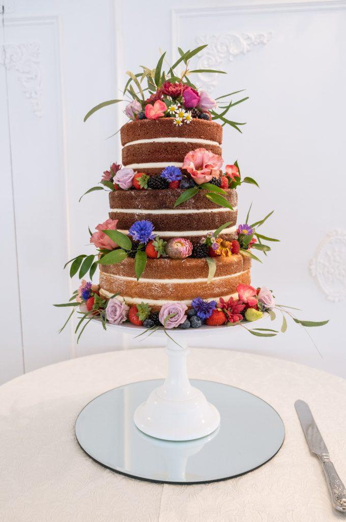 Wild Flowers Naked Cake